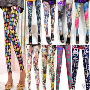 Ladys-Punk-Funky-Sexy-Leggings-Stretchy-Tight-Pencil-Skinny-Pants-Free-Shipping