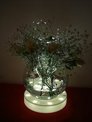 LED LIGHT BASE WITH 23 BRIGHT WHITE LIGHTS SAFE WEDDING TABLE CENTREPIECE