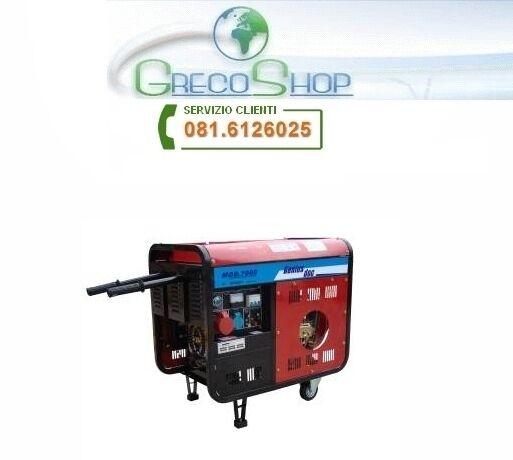 Generatore di corrente diesel 5000W - 220/380V avviamento elettrico