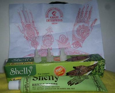 Natural henna MEHNDI ECL henna tube nozzles body tattoo temporary tattoo kit US