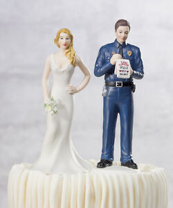 Funny Police Wedding Cake Toppers