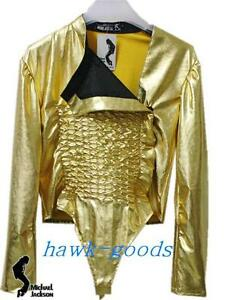 Image is loading MICHAEL-JACKSON-Dangerous-Gold-Tour-Leotard-WITH-FREE-