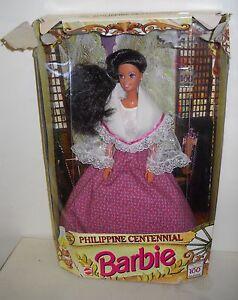 3900-NRFB-Mattel-Philippine-Centennial-Barbie-Foreign-Issued-BAD-BOX