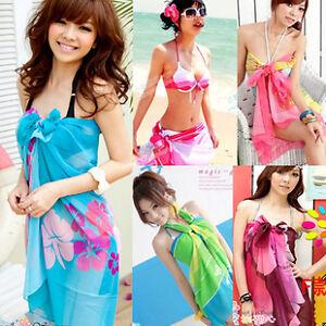 LADIES-WOMANS-BEACH-SARONG-DRESS-Wrap-Swimwear-Beach-Cover-Up-Scarf-Sun-Dresses
