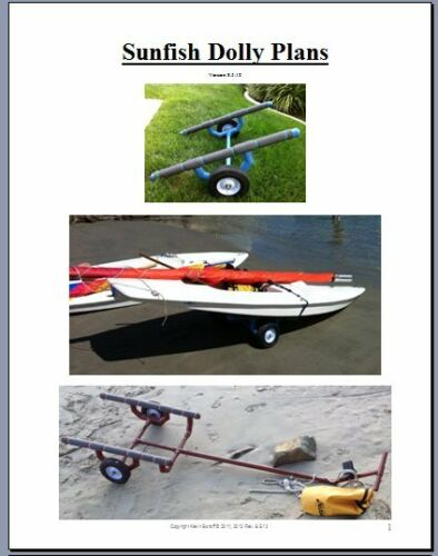 Dolly PLANS to build a Small Boat cart carrier - sunfish, laser, 420, FJ, Sabot