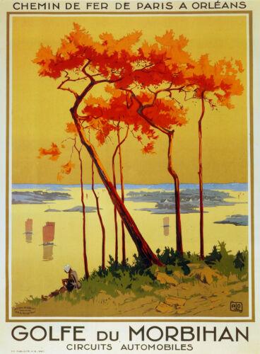 Fine Graphic Art Design Chemin de Fer Golfe du Morbihan Decorative Poster 2958