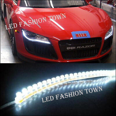 "White 20"" LED Strip Lights Audi A5 Q7 Style Driving Fog"
