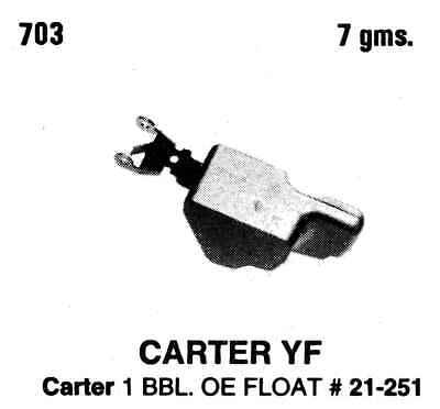 Tomco 703 Carburetor Float