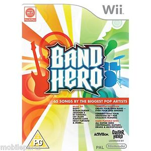Band-Hero-Wii-Game-Only-65-by-the-Biggest-Artists-New-in-Sealed-Box-PAL