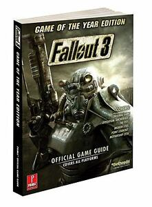 FALLOUT 3 GAME OF THE YEAR EDITION PRIMA OFFICIAL STRATEGY GUIDE + on