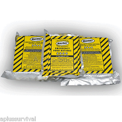 7 Day 8400 Calorie Emergency Survival Food Bar Rations Car Kit Bug Out Bag MRE