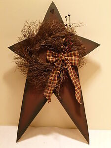 star and wreath berries country primitive home decor ebay. Black Bedroom Furniture Sets. Home Design Ideas