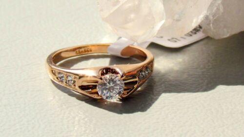 Valentinstag GESCHENK Verlobungsring DAMEN GOLD RING 18 karat pl auch Übergrößen