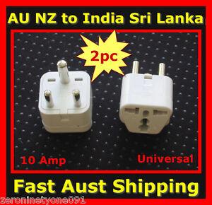 Au Nz Universal To India Sri Lanka Premium Travel Plug