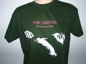 THE-SMITHS-THE-QUEEN-IS-DEAD-MENS-DARK-GREEN-MUSIC-T-SHIRT
