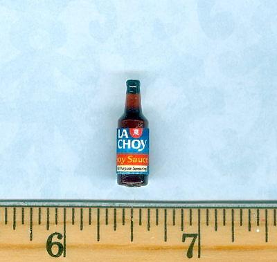 Dollhouse Miniature Size La Choy  Soy Sauce Bottle
