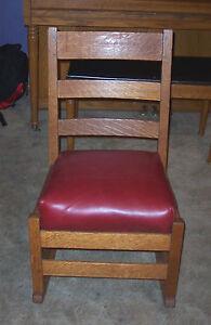 Quartersawn-Oak-Stickley-Rocker-Rocking-Chair-R100