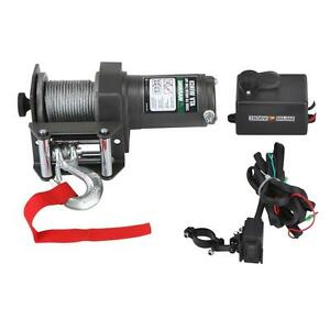 NEW-2000-Lb-Electric-ATV-UTV-Winch-With-Automatic-Load-Holding-Brake-12V-50-FT