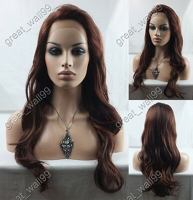 """18""""-28"""" New ! high quality HAND TIED Synthetic Hair lace front full  wig #33/350"""