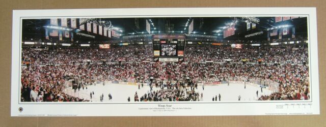 Detroit Red Wings 2002 Stanley Cup Panoramic @ Joe Lewis Arena -Large!