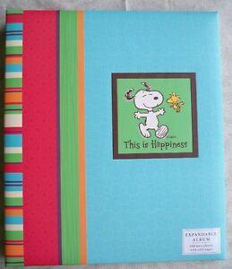 Hallmark-Large-Post-Photo-Album-Scrapbook-Peanuts-Snoopy-Current-Refill-Choice