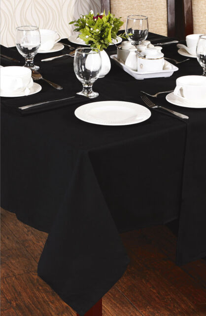 REPAST 100% COTTON PLAIN DYED TABLECLOTHS AVAILABLE IN 5 SIZES AND 5 COLOURS