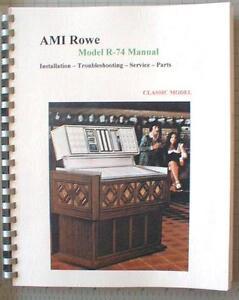 Ami r84 Jukebox owners manual