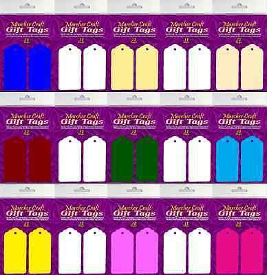 12 X Grandi Etichette Regalo / Nozze Luogo Card Etichette / Tag Decorazioni Per -- Molti Colori-