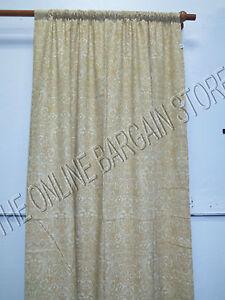 1 pottery barn amelia print curtains panels drapes 50x84 paisley linen neutral ebay. Black Bedroom Furniture Sets. Home Design Ideas