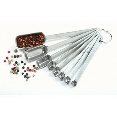Norpro 8 Pc Stainless Steel Measuring Spoon Set with Metric Equivalents. New