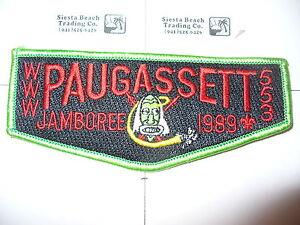 OA-Paugassett-Lodge-553-S-10-1989-BSA-Jamboree-Flap-Housatonic-Council-Derby-CT