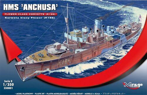 K-186 HMS ANCHUSA WW II FLOWER//GLADIOLUS CLASS CORVETTE 1//350 MIRAGE
