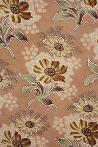 Vorhang Antik Französisch Stoff Jugendstil großes Panel mit Besatz ~ c1900 Textil