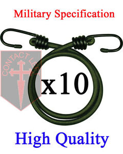 New-10-x-12-034-BUNGEES-Green-Military-Specification-CORD-ELASTIC-30CM-HEAVY-DUTY