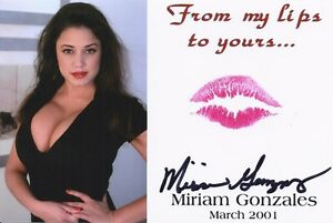 MIRIAM GONZALEZ SIGNED AUTOGRAPHED 8x10 PLAYBOY PLAYMATE
