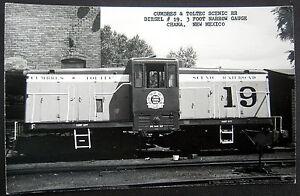 CHAMA NM ~ 1940's CUMBRES & TOLTEC SCENIC RAILROAD~ DIESEL # 19 ~ RPPC