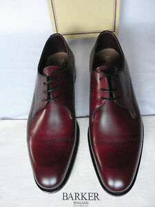 Barkers-Burgundy-Calf-Leather-Derby-Style-Formal-Lace-Up-Shoes-UK-11-F