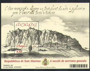 San-Marino-2007-Postal-Services-Post-Mail-Art-Drawings-Courier-1v-m-s-n37632