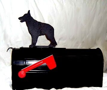 GERMAN SHEPHERD dog  MAILBOX TOPPER SIGN Steel Metal
