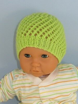 PRINTED KNITTING INSTRUCTIONS-BABY EASY LACE SKULLCAP KNITTING PATTERN
