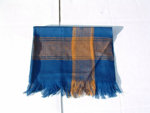 NEW Scarf or wrap andean pashmina and cotton dark blue colors