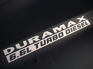 L DURAMAX TURBO DIESEL Hood Decals Stickers Chevy Silverado - Chevy duramax diesel decals