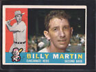 1960 Topps Billy Martin Cincinnati Reds #173 Baseball Card