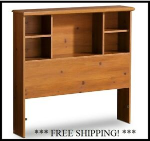 twin bed size pine bookcase headboard storage cubbies. Black Bedroom Furniture Sets. Home Design Ideas