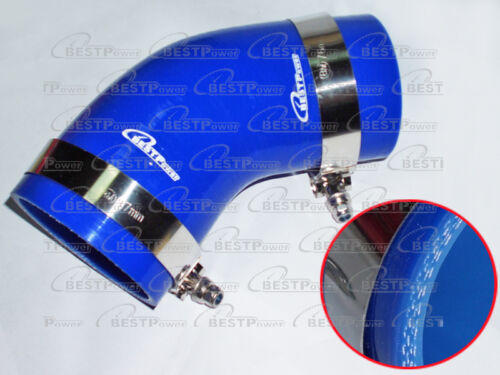 Silicone 45 degree Elbow Hose/ 68mm 2.68' inch Turbo Intercooler pipe+ 2 T clamp