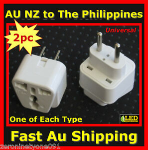 Au Nz Universal To Philippines Premium Travel Plug Adaptor