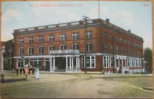 Image Is Loading 1910 Postcard Hotel Marinette Wisconsin Wi