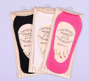 6Pairs-Bamboo-Fiber-Low-Cut-No-Show-Silicon-Gel-Non-slip-Loafer-Boat-Socks-Women