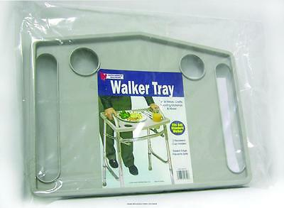Univeral Walker Tray Accessory Dinner Carry Transport Standard Cup Holders Craft