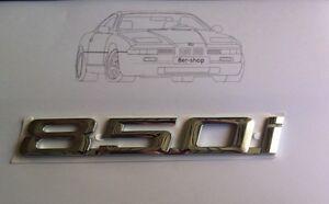 Original-BMW-850i-Emblem-8er-e31-Typenschild-Schriftzug-NEU-51148108850